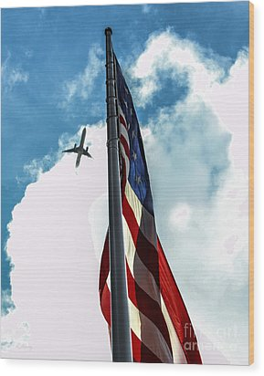 Tribute To The Day America Stood Still Wood Print