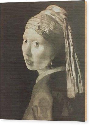 Tribute To Vermeer Homenaje A Jan Vermeer Wood Print by Fernando A Hernandez