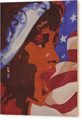 Tribute To Whitney Houston Wood Print by Xueling Zou