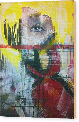 Tricia Helfer As Caprica Six Wood Print by Mark M  Mellon
