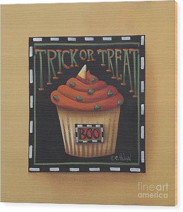 Trick Or Treat Wood Print by Catherine Holman