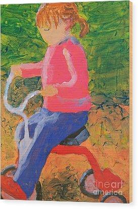 Tricycle Wood Print