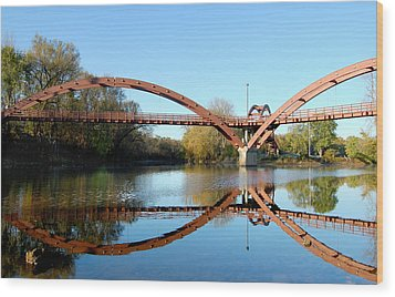 Wood Print featuring the photograph Tridge by Michael Donahue