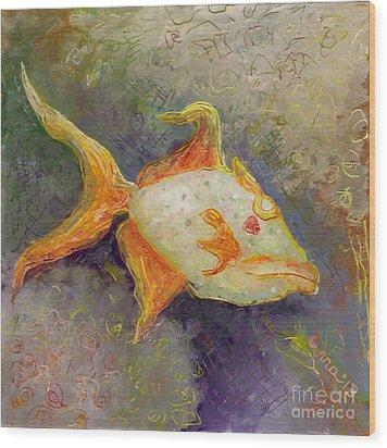 Triggerfish Wood Print by Anna Skaradzinska