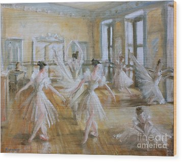 Tring Park The Ballet Room Wood Print by Yvonne Ayoub