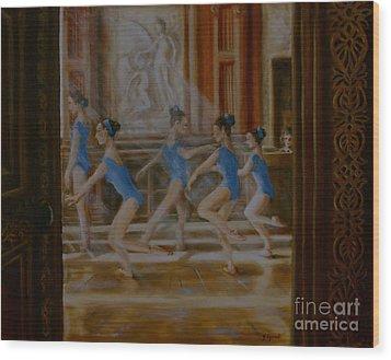 Tring Park The Ballroom Wood Print by Yvonne Ayoub