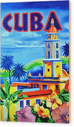 Trinidad Cuba Wood Print by Victor Minca