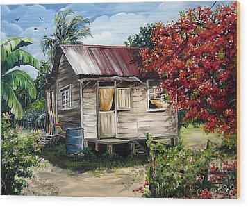 Trinidad Life 1  Wood Print by Karin  Dawn Kelshall- Best