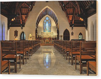 Trinity Episcopal Church Wood Print by Dan Myers