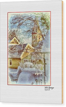 Trinity Episcopal Church In The Snow - Shepherdstown  Wood Print