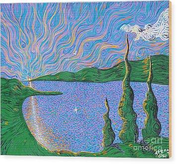 Trinity Lake Series Wood Print by Stefan Duncan
