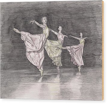 Trio Of Grace Wood Print by Beverly Marshall