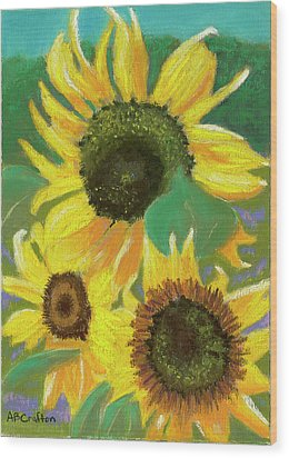 Wood Print featuring the painting Triple Gold by Arlene Crafton