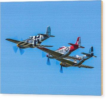Triple Mustangs Wood Print by Puget  Exposure
