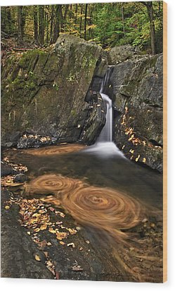 Triple Swirls Wood Print by Susan Candelario