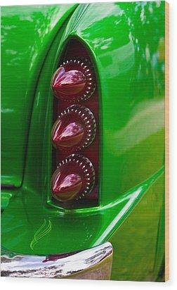 Triple Vertical Tail Lights Wood Print by Mick Flynn