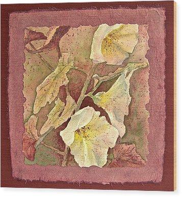 Triple White Wood Print by Carolyn Rosenberger