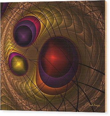 Triple Yin Yang  Wood Print by Coqle Aragrev