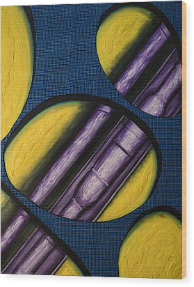 Wood Print featuring the painting Tripping Pipe by Shawn Marlow