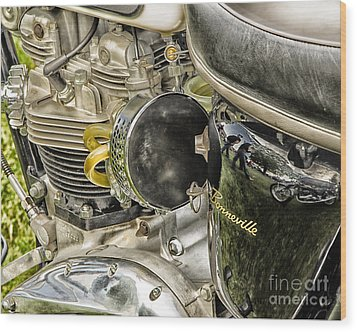 Triumph Bonneville Wood Print by JRP Photography