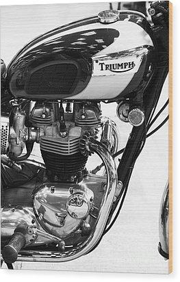 Triumph Bonneville Wood Print