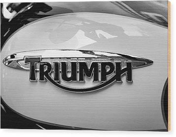Triumph Fuel Tank Wood Print