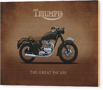 Triumph - The Great Escape Wood Print by Mark Rogan