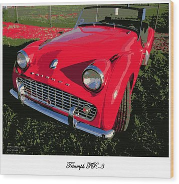 Triumph Tr-3 Wood Print by Don Struke