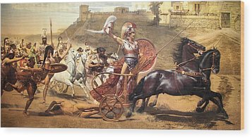 Triumphant Achilles Wood Print by Franz von Matsch