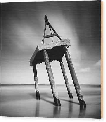 Trojan Horse Wood Print by Krzysztof Jedrzejak