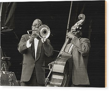 Trombone And Bass Wood Print by Tony Reddington