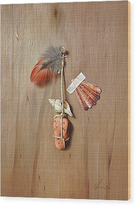 Trompe L'oeil - Gifts Of The Red Land Wood Print by Elena Kolotusha