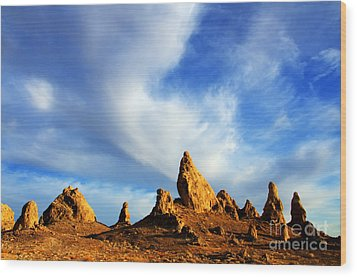 Trona Pinnacles California Wood Print by Bob Christopher