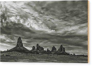 Trona Pinnacles Wood Print