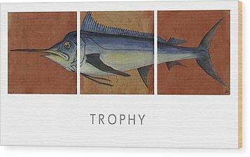 Trophy Wood Print by Andrew Drozdowicz