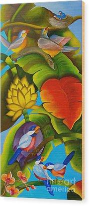 Tropic Wood Print by Fanny Diaz