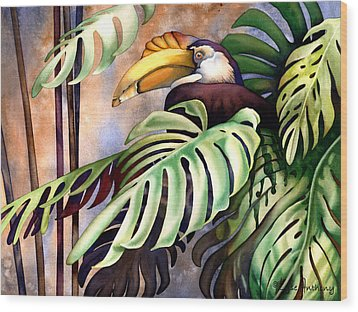 Tropic View Wood Print by Lyse Anthony