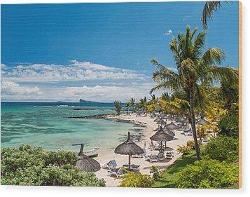 Tropical Beach II. Mauritius Wood Print by Jenny Rainbow