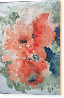 Tropical Bliss Wood Print by Trilby Cole