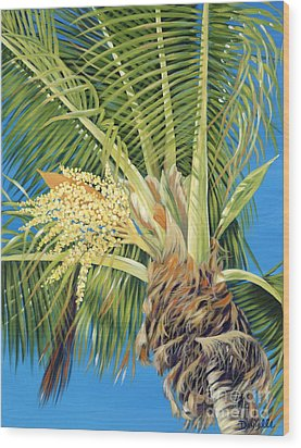 Tropical Bloom Wood Print by Danielle  Perry