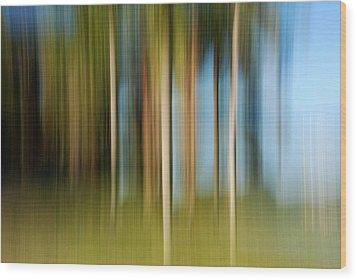 Tropical Brush Wood Print