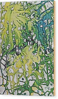 Wood Print featuring the painting Tropical Confusion by Joan Hartenstein