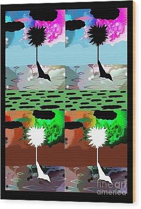 Tropical Daze 2 Wood Print by Ann Calvo