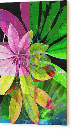 Tropical Delight Two Wood Print by Ann Powell