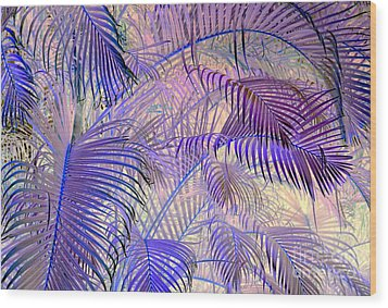 Tropical Embrace Wood Print by Roselynne Broussard