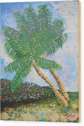 Wood Print featuring the painting Tropical Flair by Margaret Bobb