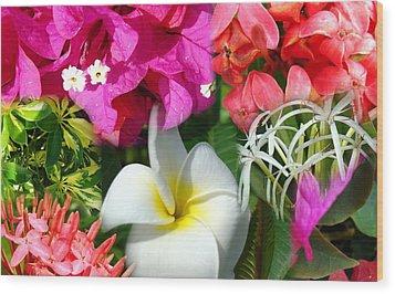 Tropical Flower Power 2 Wood Print
