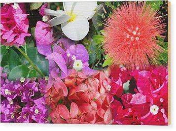 Tropical Flower Power Wood Print