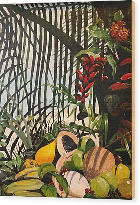 Wood Print featuring the painting Tropical Fruit by Alan Lakin