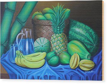 Tropical Fruits Wood Print by Gani Banacia